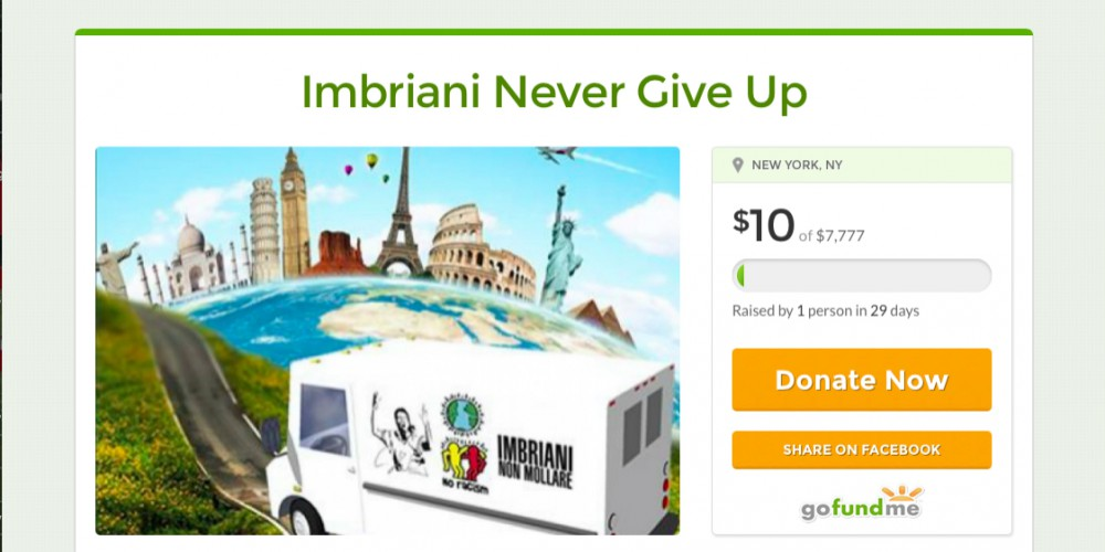 GoFoundMe Imbriani Never Give Up